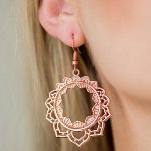 Modest Mandalas Copper Earrings